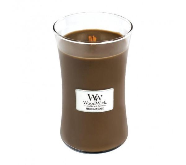 WoodWick Duża Świeca - Amber & Incense
