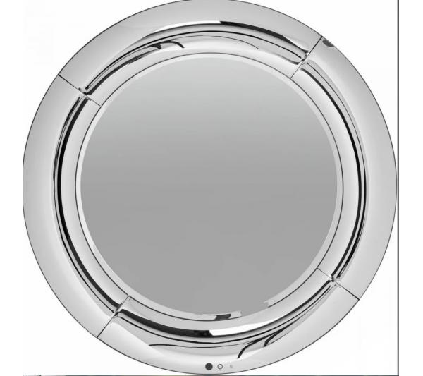 Kare Design - Lustro wiszące Bounce Round ∅80 cm Srebrne