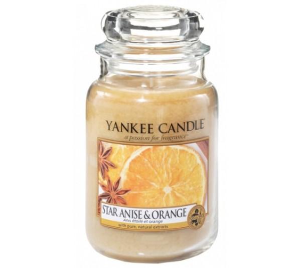 YANKEE CANDLE - Duża Świeca Star Anise & Orange