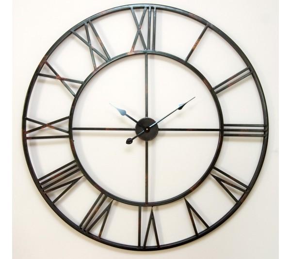 Domidea - Zegar metalowy czarny 82,5 cm