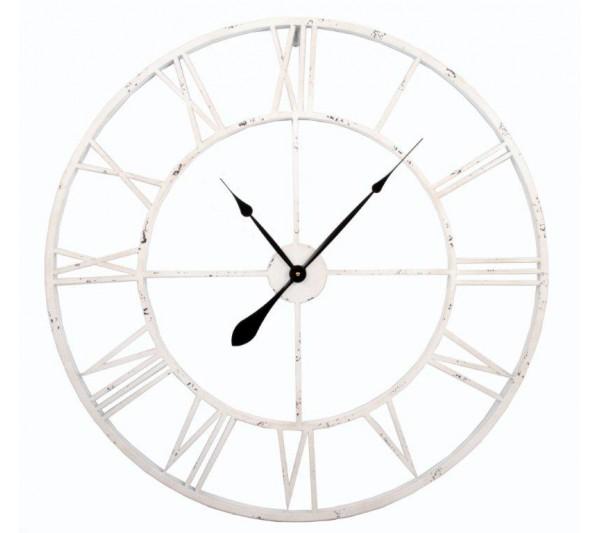 Domidea - Zegar metalowy 60cm White