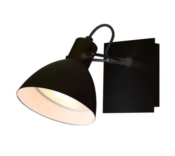 Azzardo - Lampa ścienna APOLLO BLACK