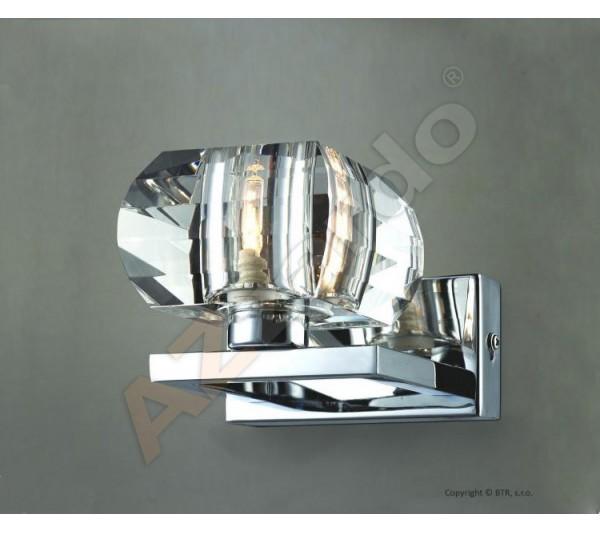 Azzardo - Lampa ścienna RUBIC 1 CHROM