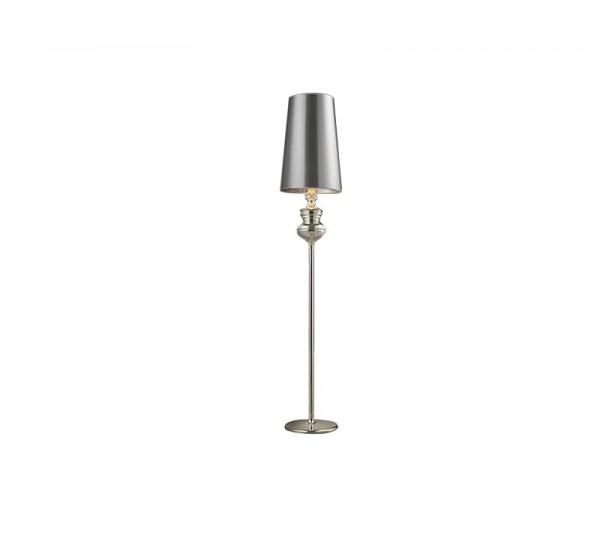 Azzardo - Lampa podłogowa BAROCO SILVER