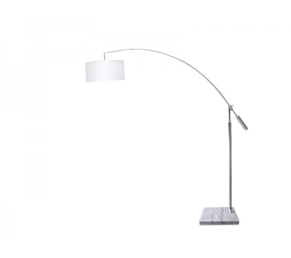 Azzardo - Lampa podłogowa BIANCA WHITE