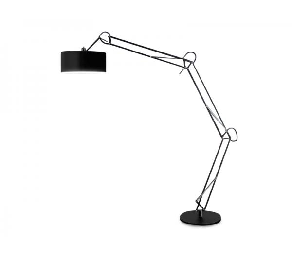 Azzardo - Lampa podłogowa BOSSE BLACK