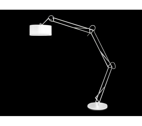 Azzardo - Lampa podłogowa BOSSE WHITE