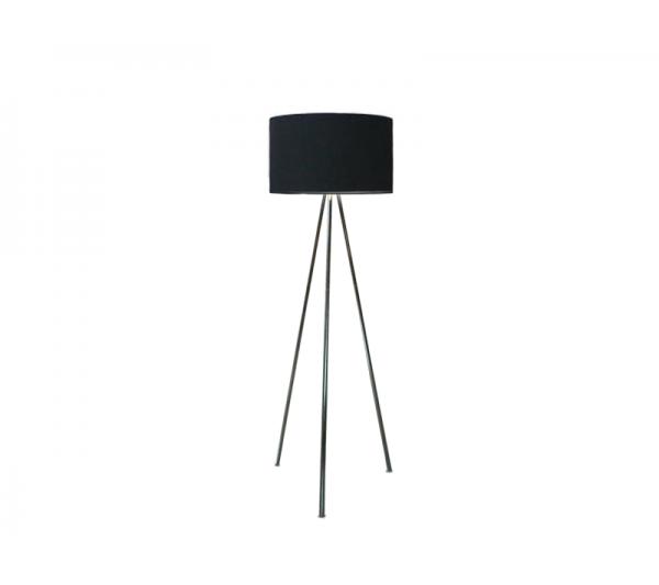 Azzardo - Lampa podłogowa FINN BLACK