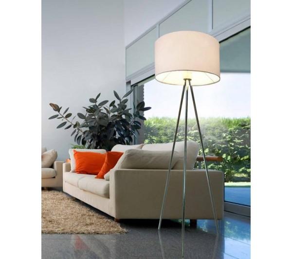 Azzardo - Lampa podłogowa FINN WHITE