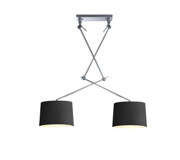 Azzardo - Lampa wisząca ADAMS 2S BLACK PENDANT