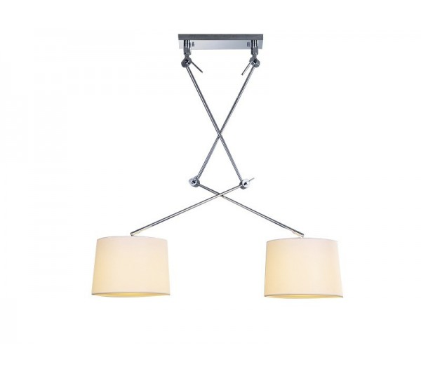 Azzardo - Lampa wisząca ADAMS 2S WHITE PENDANT