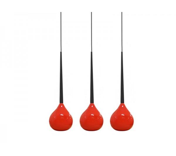 Azzardo - Lampa wisząca AGA 3 RED