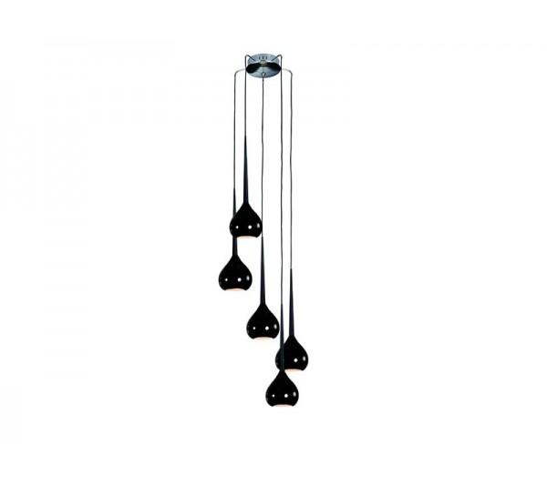 Azzardo - Lampa wisząca AGA 5 BLACK