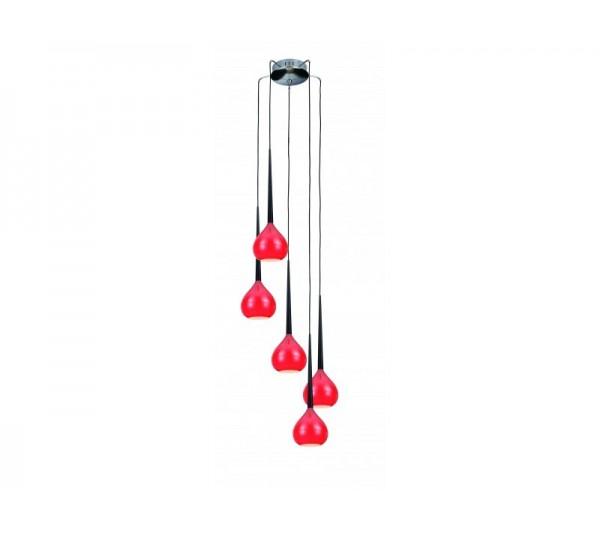 Azzardo - Lampa wisząca AGA 5 RED