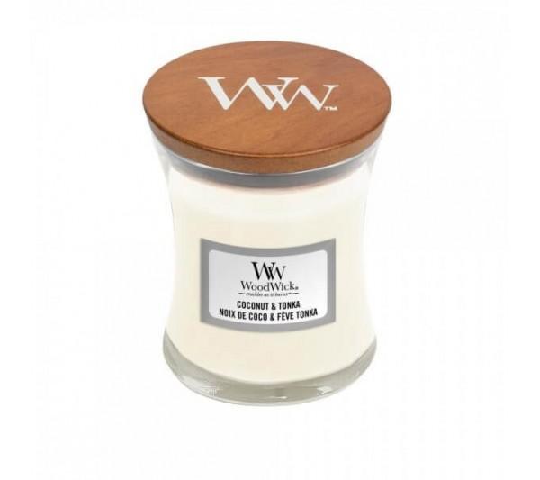 WoodWick Mała Świeca - Coconut & Tonka