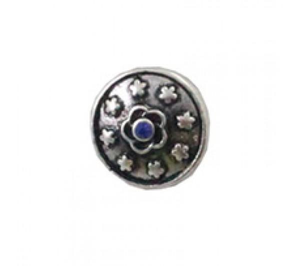 Crystal blue-Napy ozdobne do bransoletek Mini