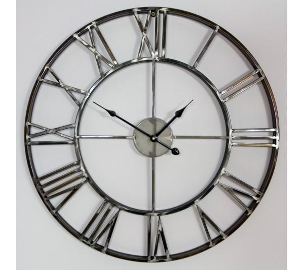 Domidea Zegar Metalowy 60cm Kolor stali