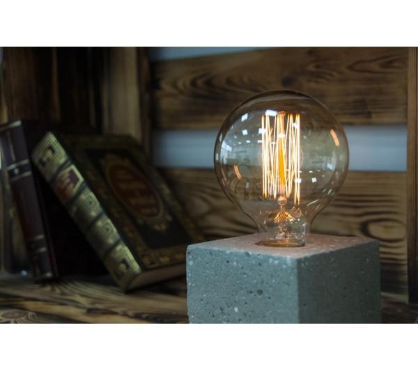 "Lampa betonowa ""EDISON CUBE"" - 10cm"