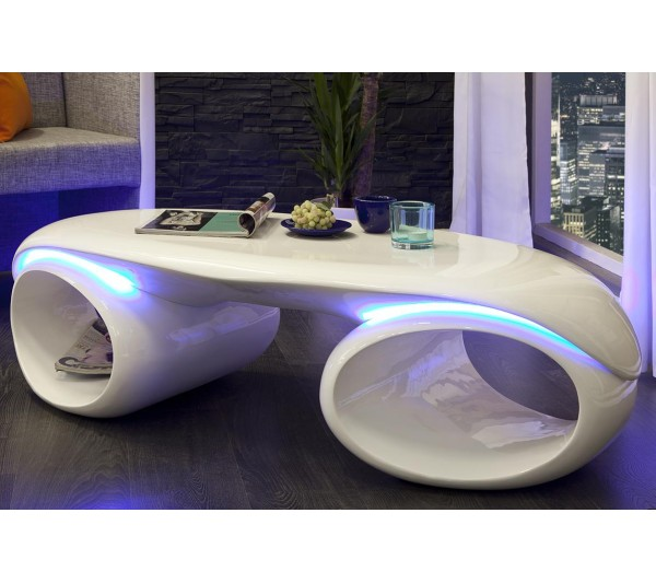 Invicta Interior - Stolik Futura 140cm biały z LED