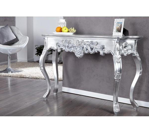 Invicta Interior - Konsola Wenecja srebrna 110cm