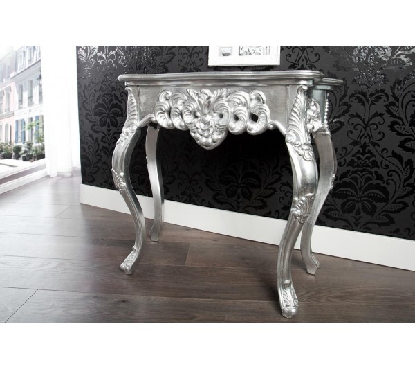 Invicta Interior - Konsola Wenecja srebrna 85cm