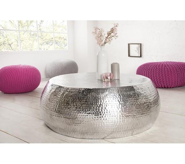 Invicta Interior - Stolik kawowy Maroko 90cm srebrny