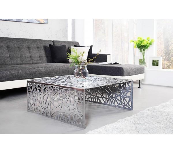 Invicta Interior - Stolik Astratto 75 cm srebrny
