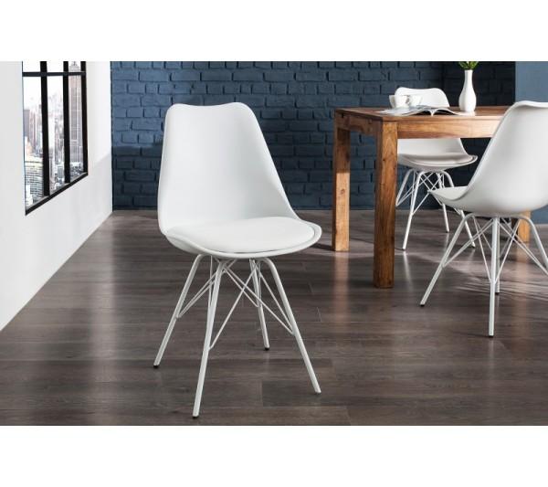 Invicta Interior - Krzesło Scandinavia Retro biały