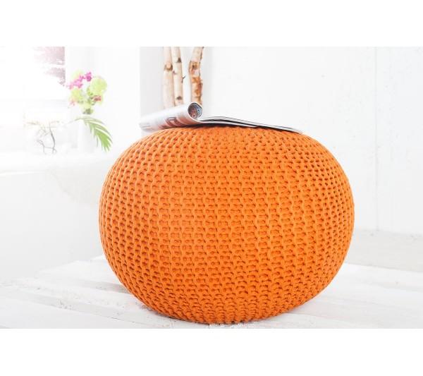Invicta Interior - Pufa Leeds pomarańczowa