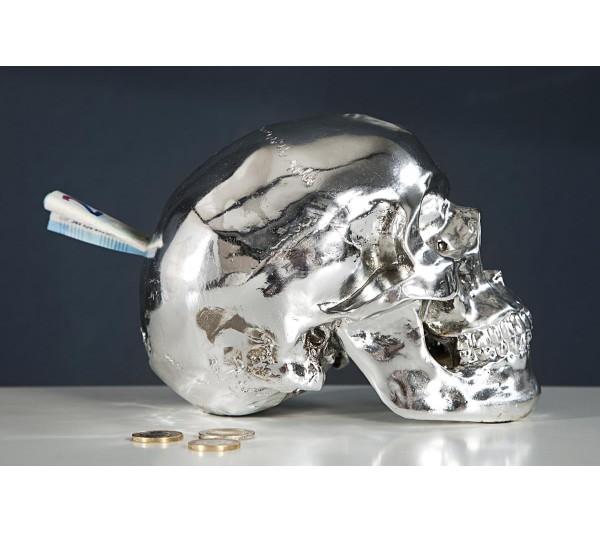 Invicta Interior - Skarbonka czaszka srebrna
