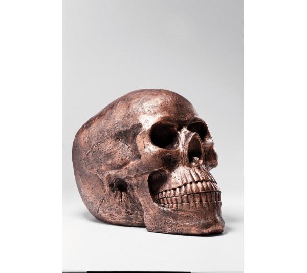 Kare design - Figurka Dekoracyjna Skull Head miedziana