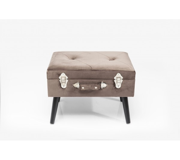 Kare design - Taboret Suitcase szary