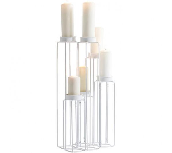 Kare design - Świecznik Chain Wire Biały 70cm