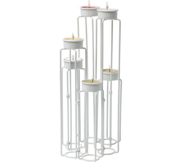 Kare design - Świecznik Chain Wire Biały