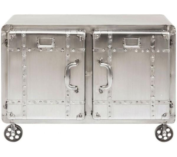 Kare design - Komoda na kółkach Buster srebrna