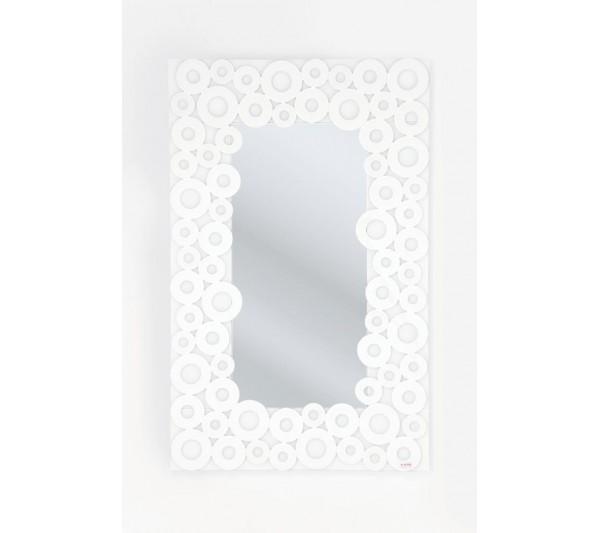 Kare design - Lustro Białe Koła 120x76cm