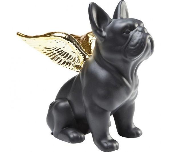 Kare design - Figurka Sitting Angel Dog czarno-złota