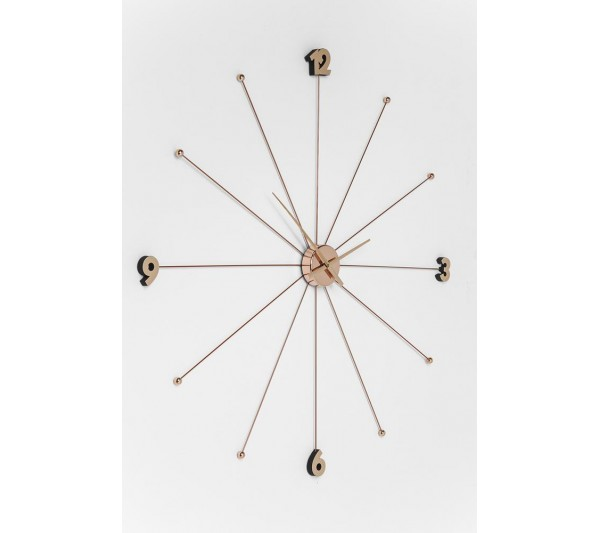 Kare design - Wall Clock Like Umbrella Rose Gold
