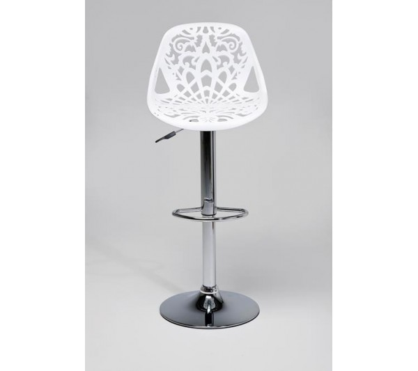 Kare design - Stołek Barowy Ornament Biały