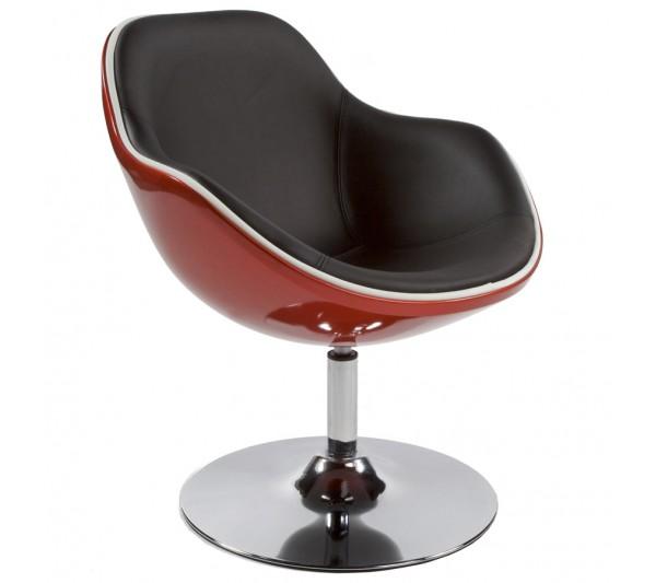 Kokoon Design - Fotel Daytona czerwono-czarny