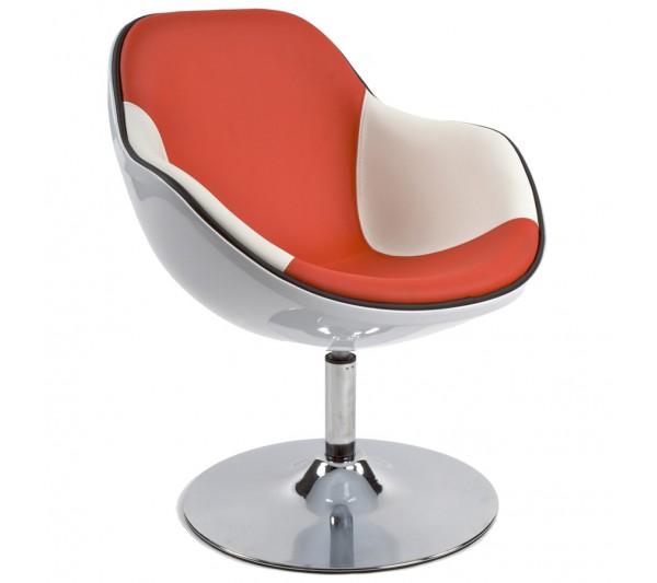 Kokoon Design - Fotel Daytona biało-czerwony