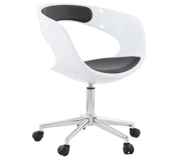 Kokoon Design - Krzesło Biurowe Felix Biało-Czarne