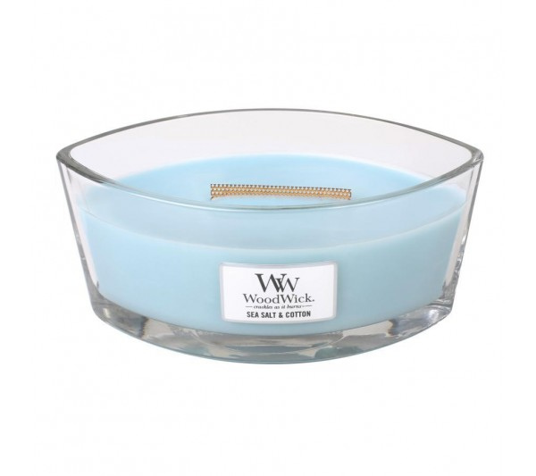 WoodWick Świeca Heartwick Flame - Sea Salt & Cotton