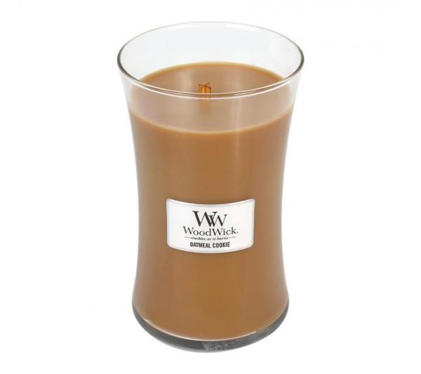 WoodWick Duża Świeca - Oatmeal Cookie