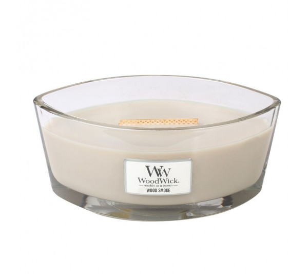 WoodWick Świeca Heartwick Flame - Wood Smoke