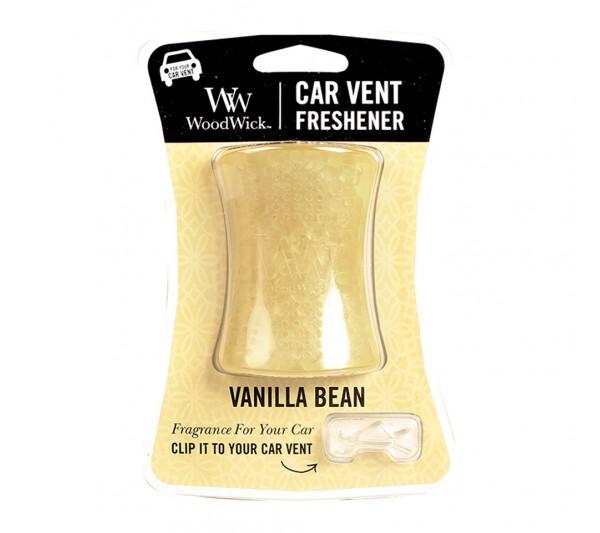 Woodwick odświeżacz do samochodu - Vanilla Bean