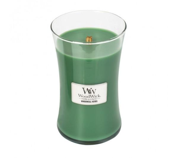 WoodWick Duża Świeca - Windowsill Herbs