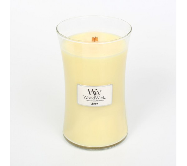 WoodWick Duża Świeca - Lemon