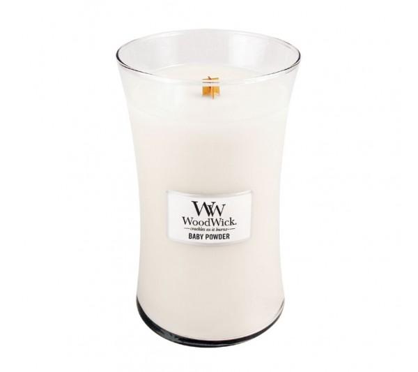 WoodWick Duża Świeca - Baby Powder