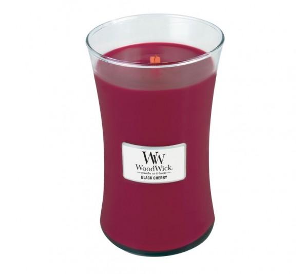 WoodWick Duża Świeca - Black Cherry